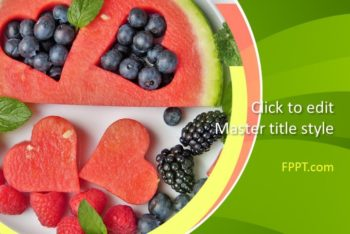 Free Fresh Sweet Fruits Powerpoint Template