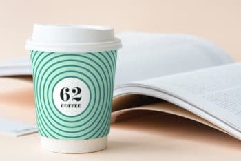 Free Coffee Cup PSD Mockup for Showcasing Your Next Cafe or Coffee Branding Project