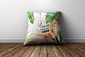 Colorful Pillow Design PSD Mockup for Free