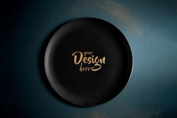 Free Plate Design PSD Mockup for Professional Presentation for Your Packaging Design Project