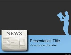 Free Press Release Newspaper Powerpoint Template