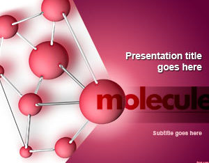 Free Molecule Slide Concept Powerpoint Template