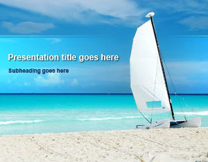 Free Paradise Beach Sailboat Powerpoint Template