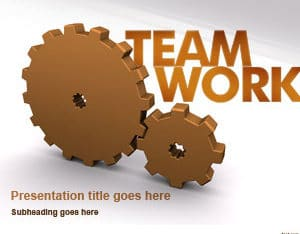 Free Modern Teamwork Concept Powerpoint Template