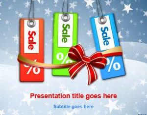 Free Holiday Sale Scene Powerpoint Template