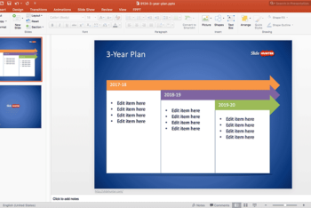 Free Long Term Plan Powerpoint Template