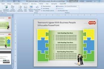 Free Teamwork Jigsaw Concept Powerpoint Template