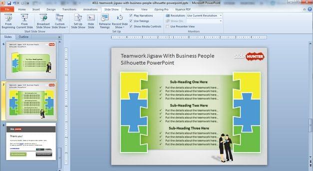 Teamwork Jigsaw Concept