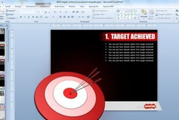 Free Target Achieved Slide Powerpoint Template