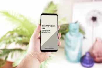 Photorealistic Smartphone PSD Mockup for Showcasing App Designs