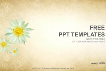 Free Lotus Flower Abstract Powerpoint Template