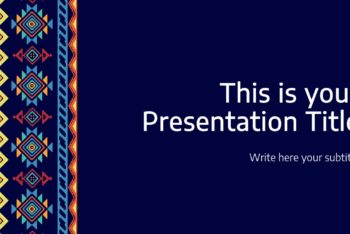 Free Tribal Weave Theme Powerpoint Template