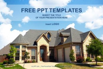 Free Architecture Home Concept Powerpoint Template