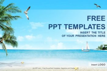 Free Beach Nature Scene Powerpoint Template