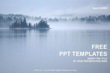 Free Beautiful Lake Scene Powerpoint Template