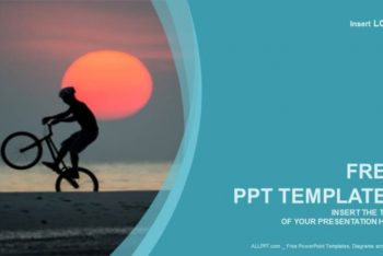 Free Intense Biker Sports Powerpoint Template