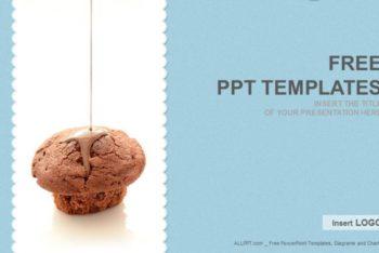 Free Chocolate Cupcake Food Powerpoint Template