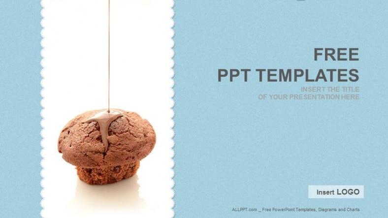 Free Chocolate Cupcake Food Powerpoint Template Designhooks