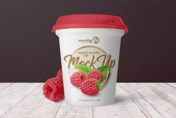 Yogurt Plastic Cup PSD Mockup for Free