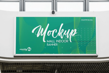 Mall Indoor Banner PSD Mockup for Outstanding Banner Advertising Across Shopping Malls & Departmental Stores