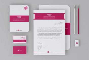 Photorealistic Branding Identity Stationery PSD Mockup