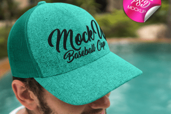 Trendy Baseball Cap PSD Mockup for Free
