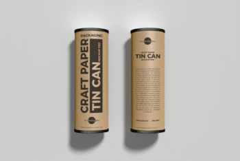 Craft Tube Packaging PSD Mockup for Designing Excellent Packaging Options