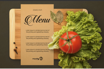 Photorealistic Menu Card PSD Mockup – Excellent design & Useful Features