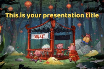 Free Chinese Pig Year Powerpoint Template