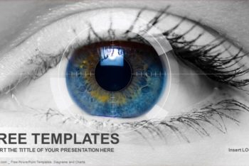 Free Beautiful Colored Eye Powerpoint Template