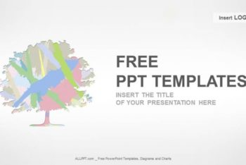 Free Colored Tree Art Powerpoint Template