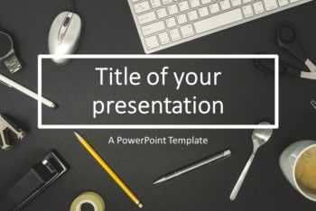 Free Mac Office Flat Lay Powerpoint Template