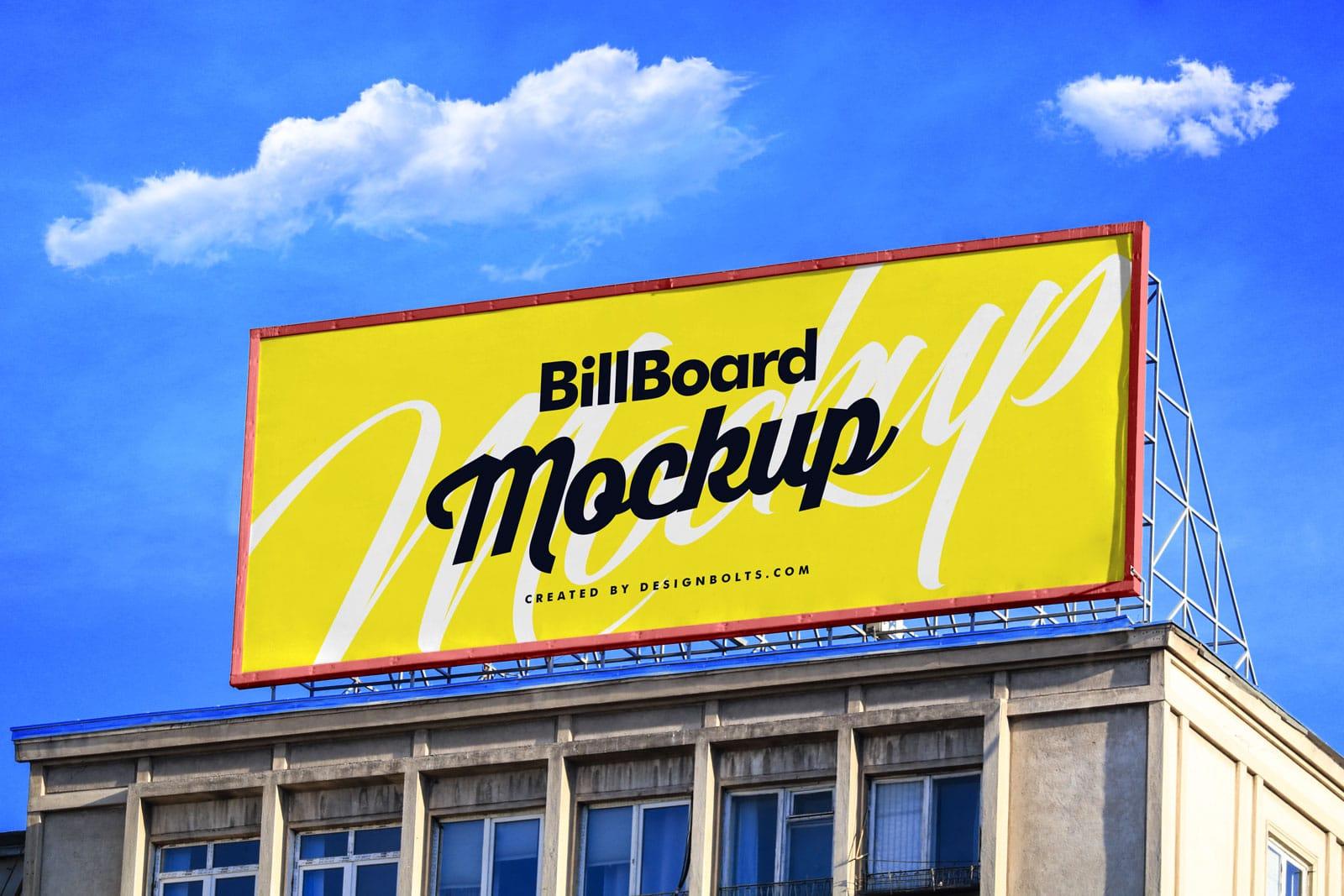 building billboard PSD mockup