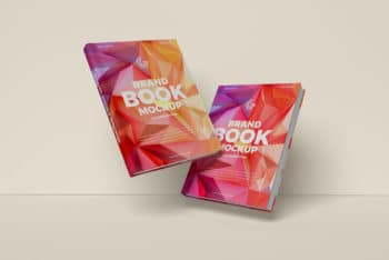 Brand Books PSD Mockup for Designing Wonderful Book Cover Easily