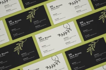 Business Cards Collection PSD Mockup for Free