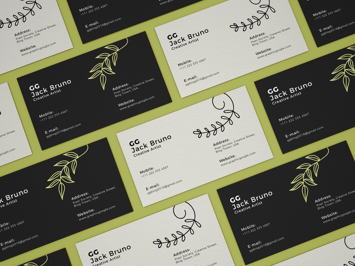 business cards collection psd