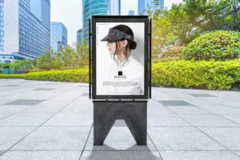 Outdoor Branding Poster PSD Mockup for Free