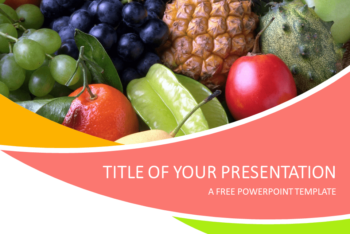 Free Assorted Sweet Fruits Powerpoint Template