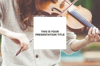 Free Classical Music Violin Powerpoint Template