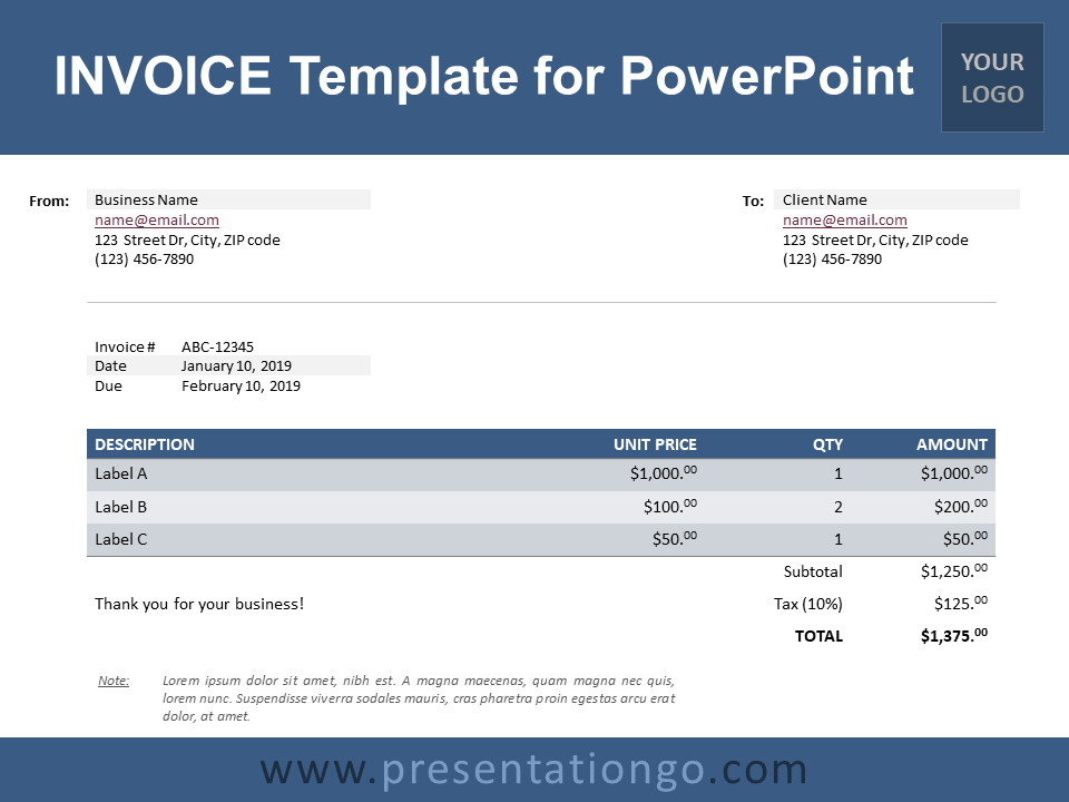 Free Invoice Example Concept Powerpoint Template Designhooks