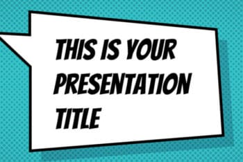 Free Comic Book Presentation Powerpoint Template
