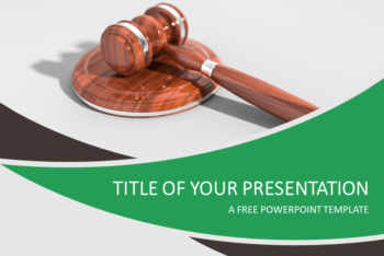 Free Law Plus Justice Concept Powerpoint Template