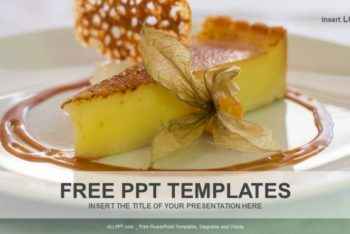 Free Tasty Lemon Tart Powerpoint Template