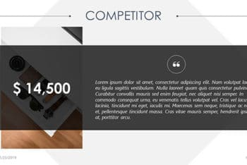 Free Business Competitor Slide Powerpoint Template