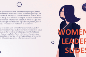 Free Women Leader Presentation Powerpoint Template