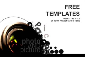 Free Photography Camera Lesson Powerpoint Template
