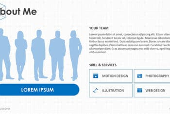 Free Business Profile Slides Powerpoint Template