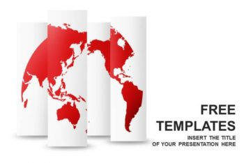Free Red World Map Concept Powerpoint Template