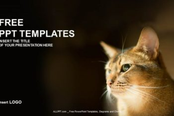Free Cute Cat Scene Concept Powerpoint Template