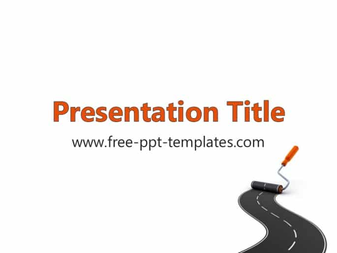 Free Road Construction Concept Powerpoint Template Designhooks